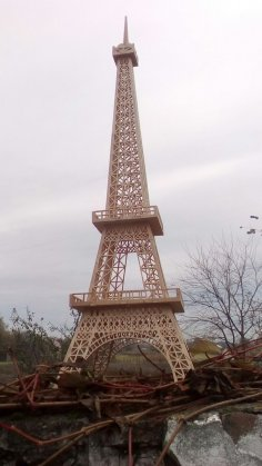Eiffel Tower 3d Laser Cut Template PDF File