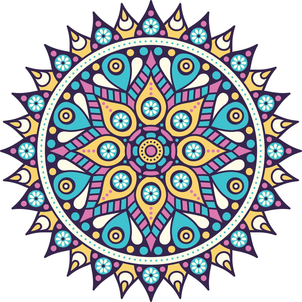 Multicolored Mandala Free Vector