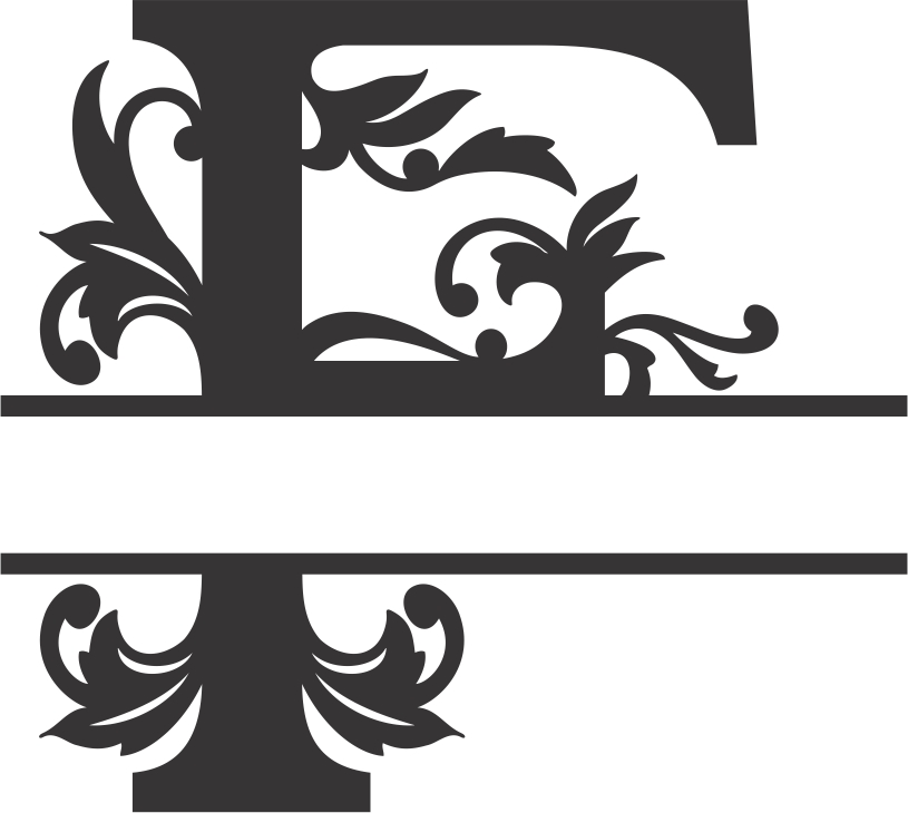 Regal Split Font F DXF File