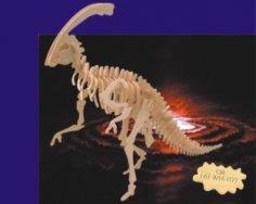 Parasaurolophus 3D Wooden Puzzle DXF File