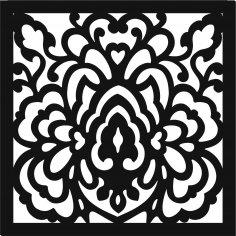 Lattice Floral Pattern Free Vector