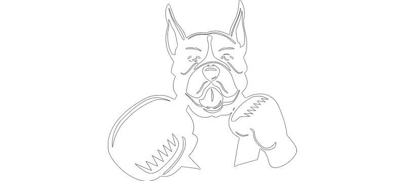 Boxer Boxing  dxf File