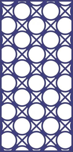 Design of Decorative Circle Pattern Panel dxf File