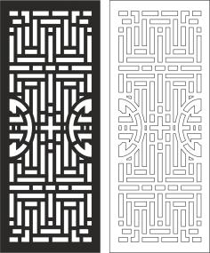 Carved Wood Partition Design vector