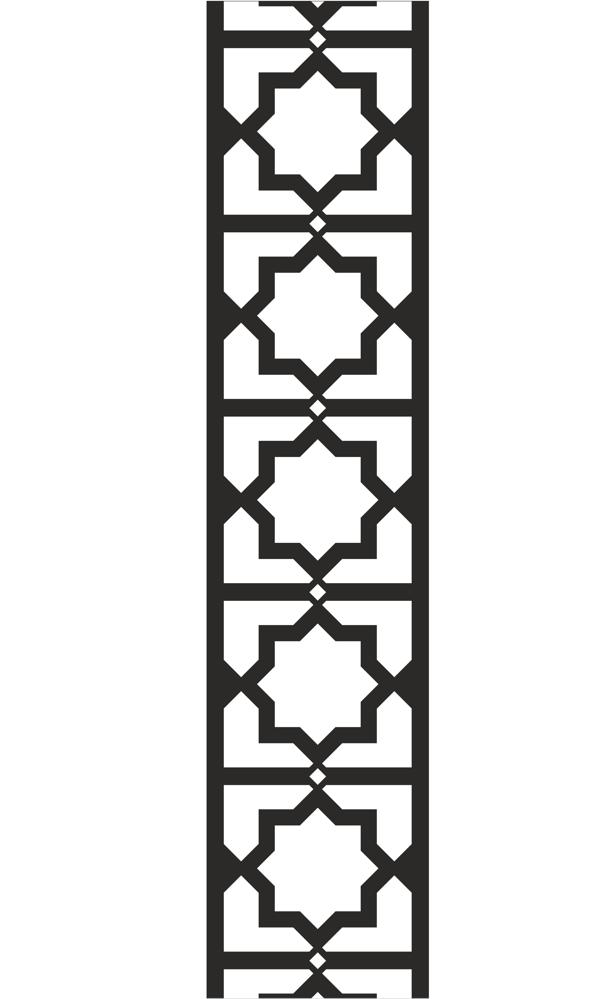 Chinese style vector pattern dxf File