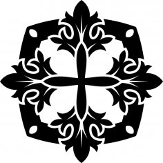 Black and white mandala vector Ai File
