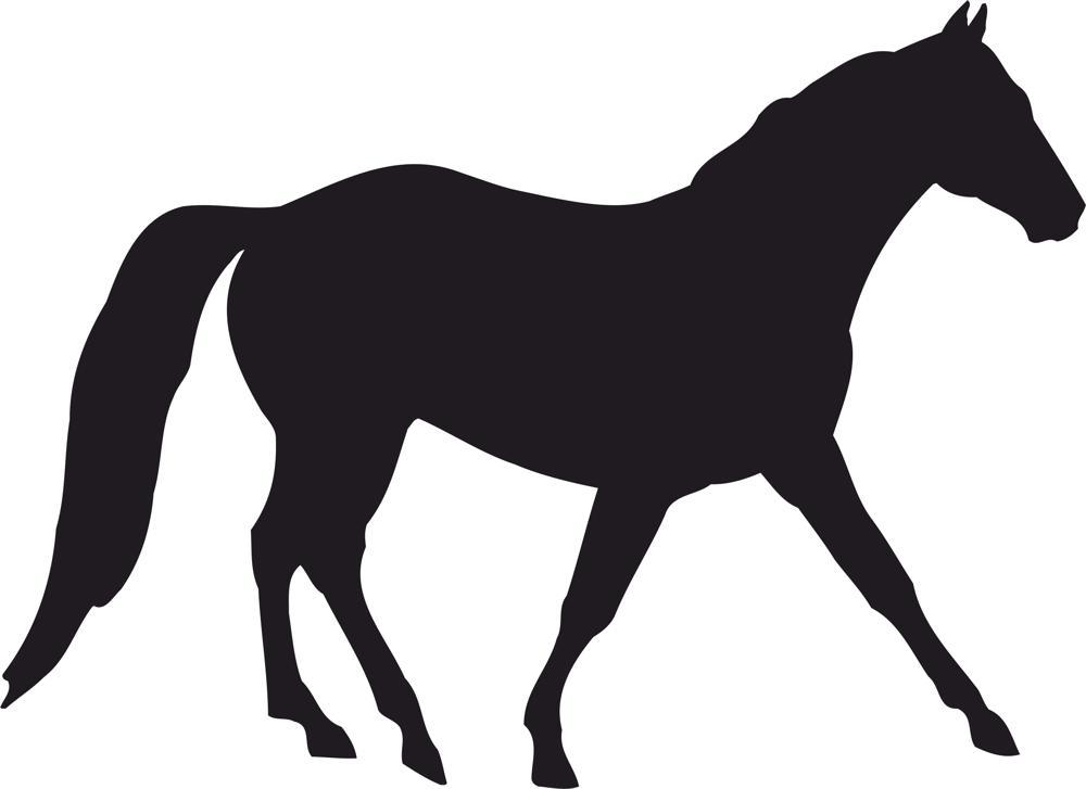Horse Silhouette Vector Free Vector