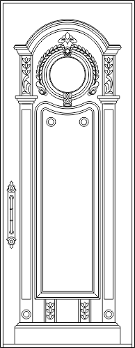 Ornamental Door DWG File