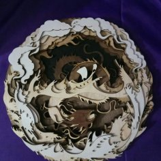 Carving Drakon Free Vector