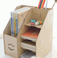 Laser Cut Desk Organizer Free Vector