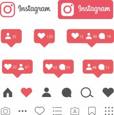 Instagram Like Icons Free Vector