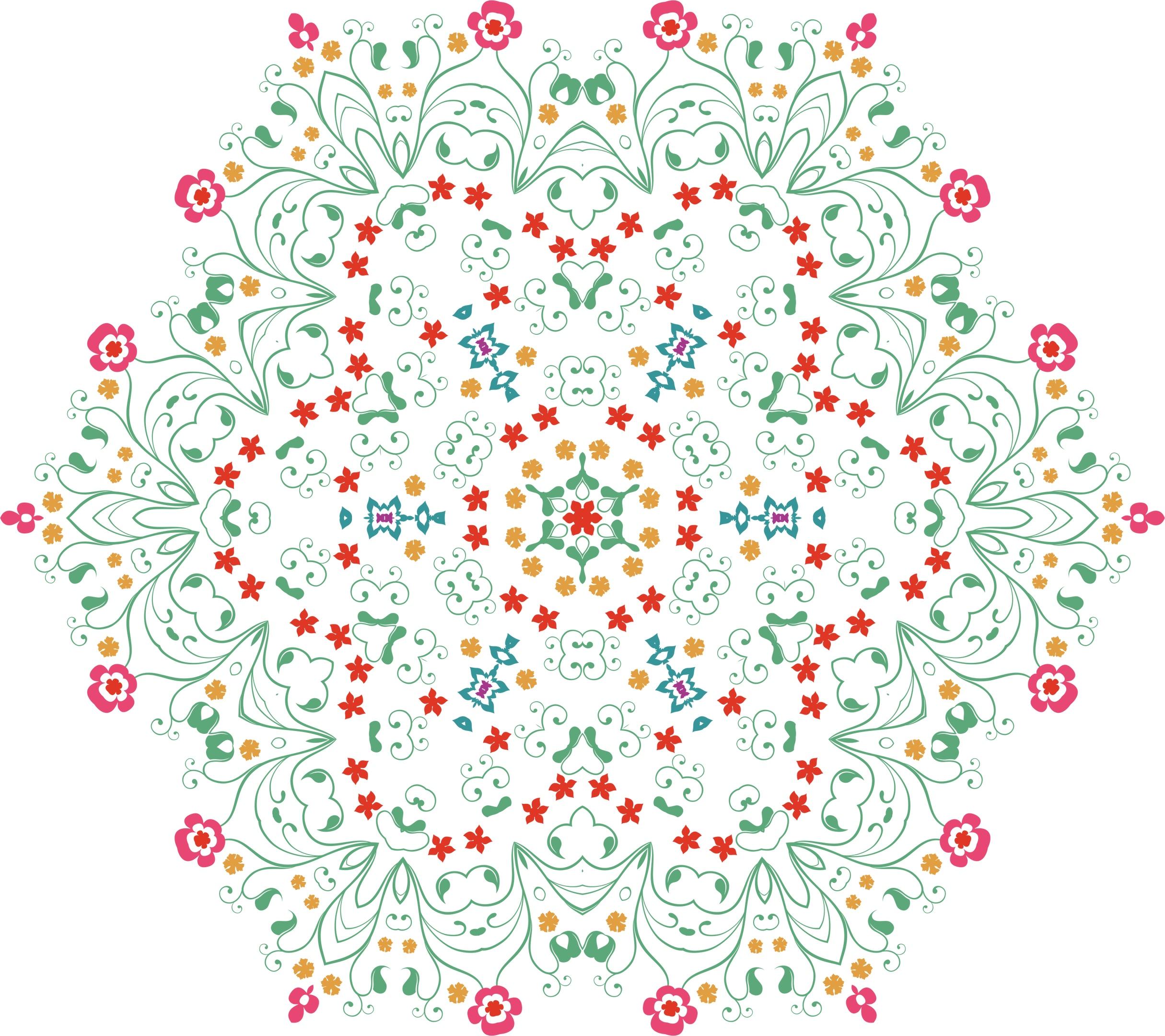 Flower Mandala Free Vector
