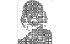 Marilyn Monroe dxf File
