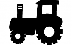 Tractor silhouette vector art dxf File