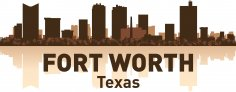 Fort Worth Skyline Free Vector