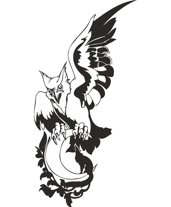 Eagle Wolf Moon Vector