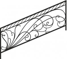 Decorative Deck and Porch Railing Free Vector