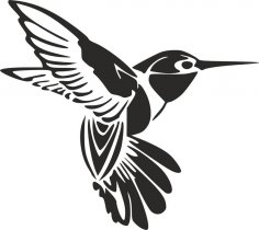 Humming Bird Tattoo dxf File