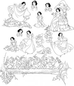 Pretty Snow White And Seven Dwarfs Grumpy Free Vector