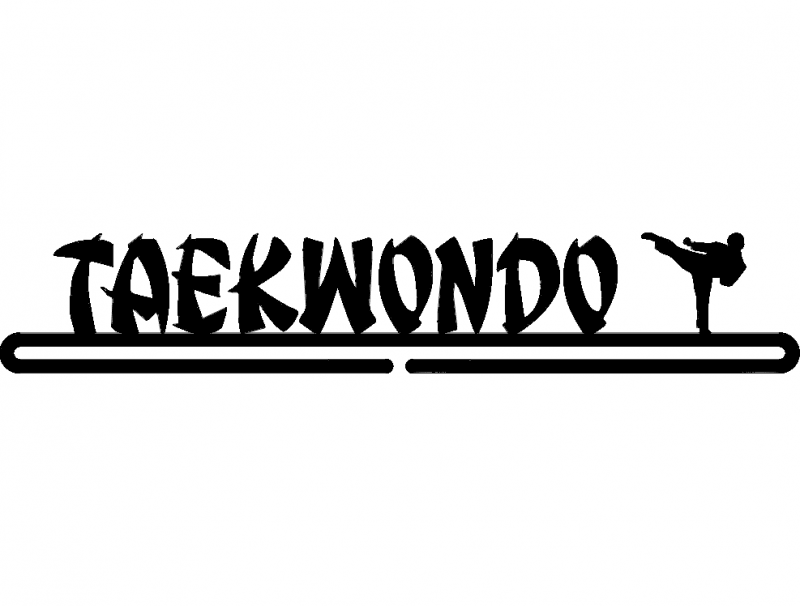 Taekwondo Boy dxf File