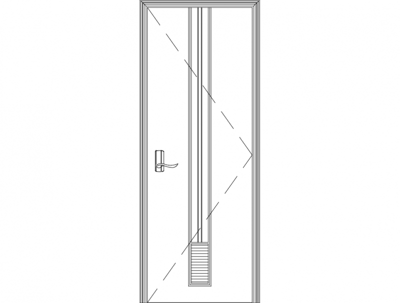 Wonderful Single Door Desig dxf File