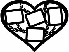 рамка сердце dxf File