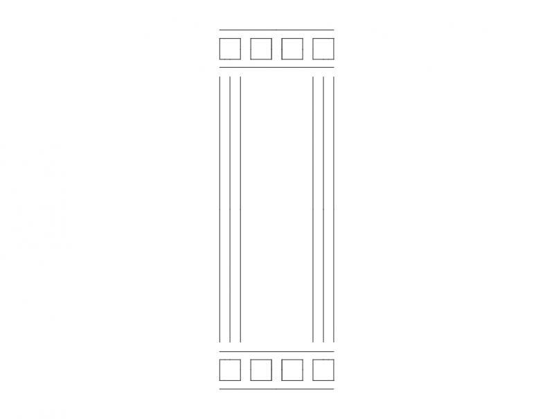 Mdf Door Design 11 dxf File