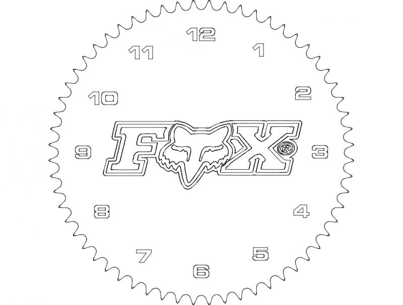 Fox Mx Clock dxf File