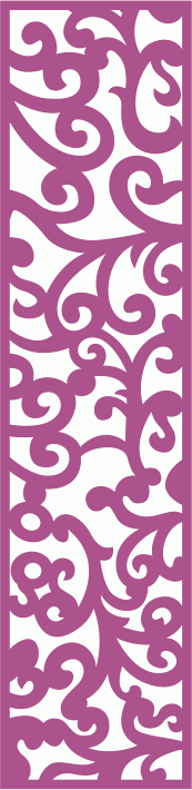 Laser Cut Vector Panel Seamless 175 CDR File