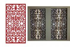 Seamless Floral Screen Vector DXF File
