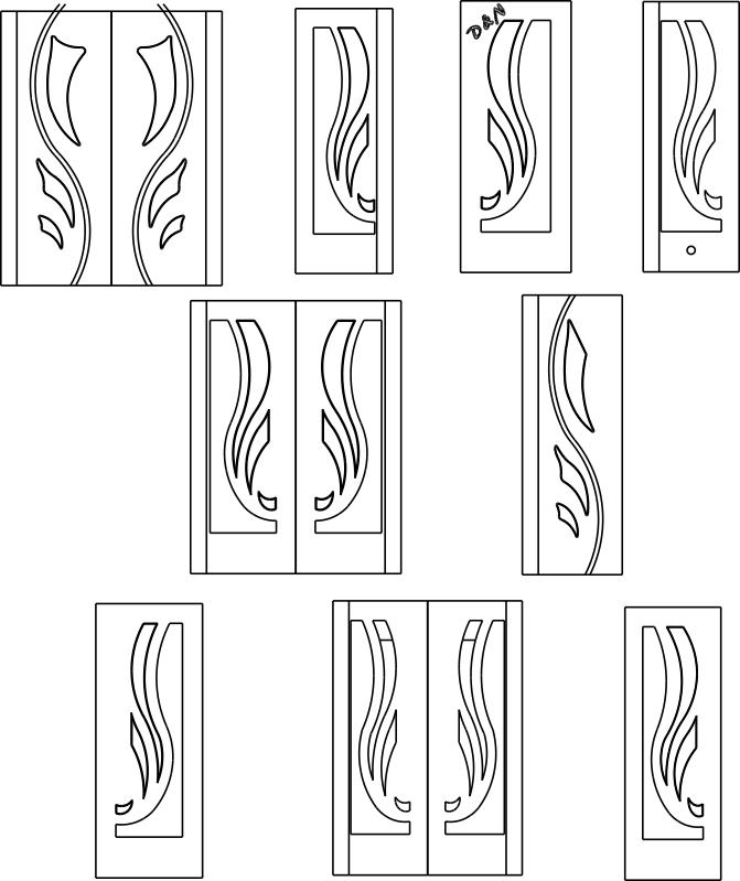 Interior Door Designs DXF File