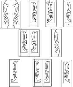 Interior Door Designs DXF File