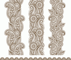 Mehndi Border Designs Vector Art Free Vector