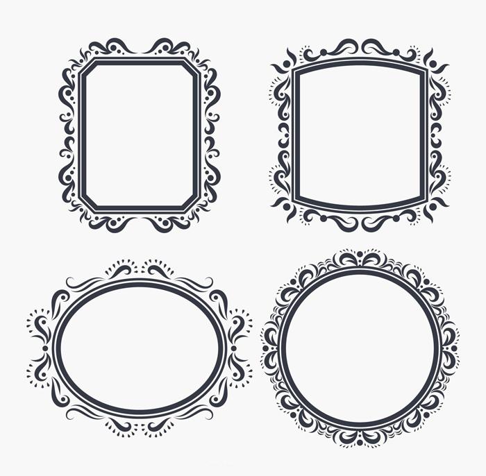 Ornate Frame Vectors DXF File