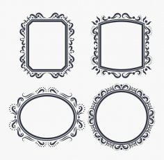 Ornate Frame Vectors DXF File