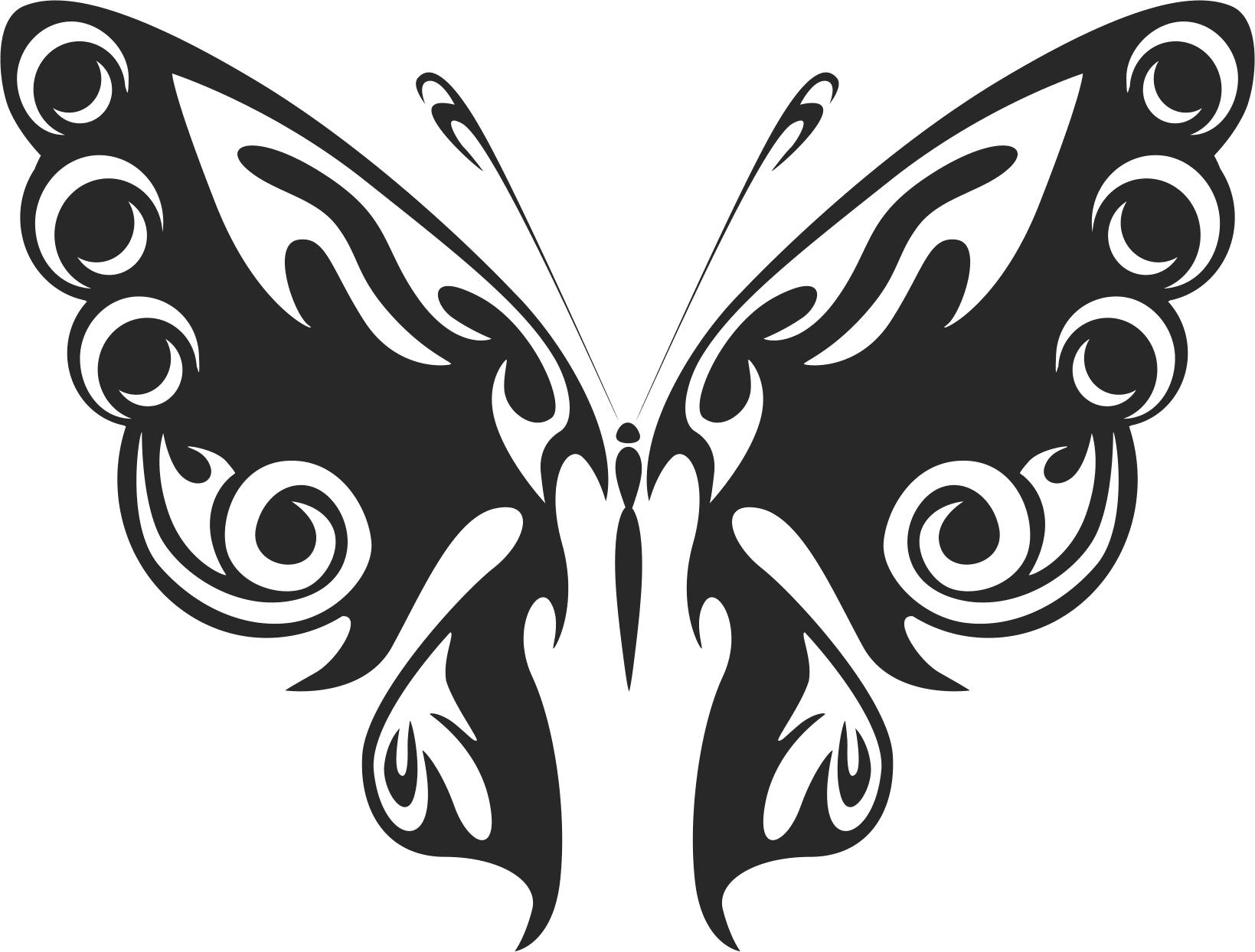 Tribal Butterfly Vector Art 47 DXF File