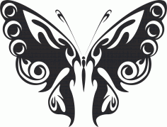 Tribal Butterfly Vector Art 47 DXF File