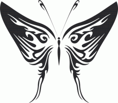 Butterfly vector illustration DXF File