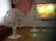 Plywood decorative trees CDR File