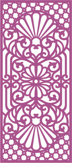 Laser cut jali design Free Vector