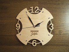 Laser cut clock DXF File