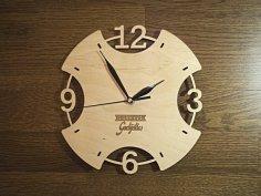 Laser cut clock DXF File
