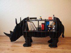 Rhinoceros Storage Shelf 8mm Free Vector