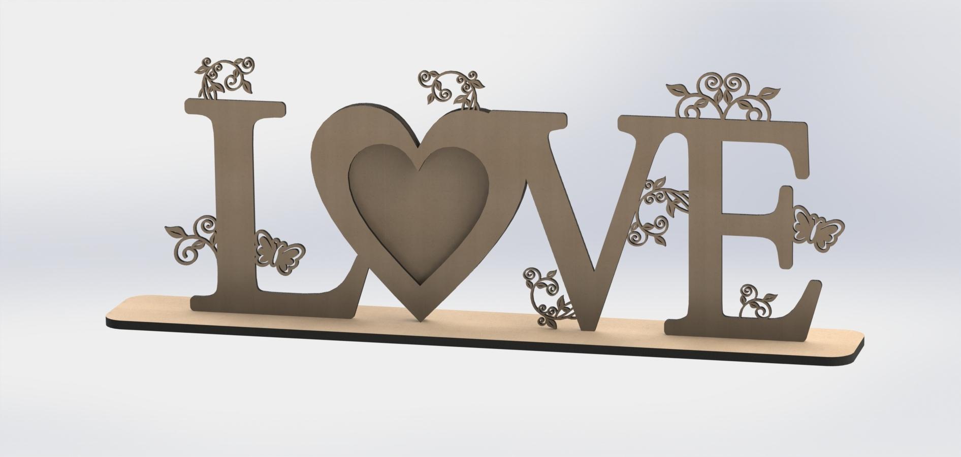 Love Heart Laser Cut DXF File