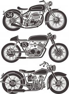 Vintage Motorcycle Vector Set Free Vector