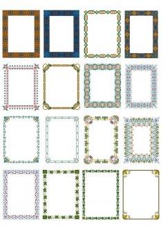Creative Floral Borders Free Vector