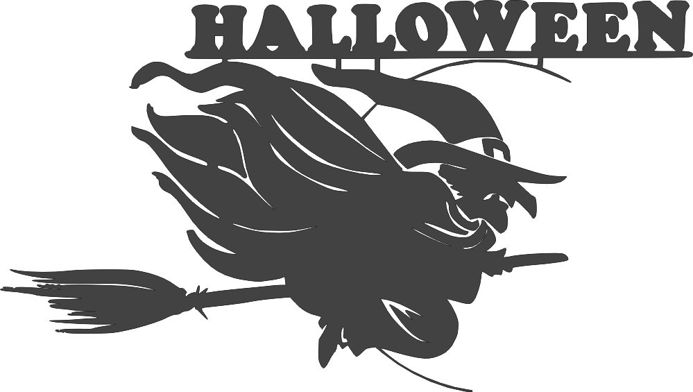 Halloween witch DXF File