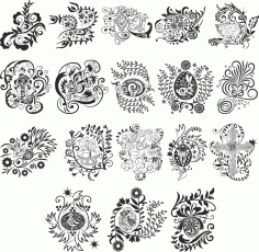 Vector Easter Pattern Free Vector