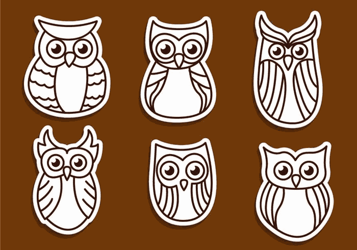 Sovy Owls Free Vector