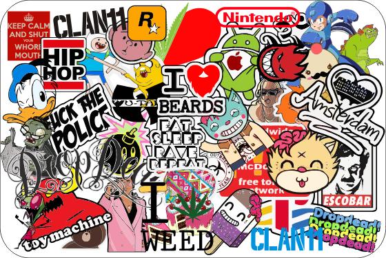 Random Sticker Bomb
